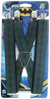DC Comics The Joker Diamond Grey & Green Suspenders