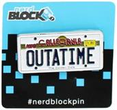 "Back to the Future ""Outatime"" License Plate Enamel Collector Pin"