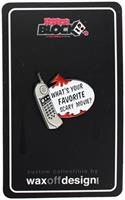 "Scream Phone ""What's Your Favorite Scary Movie?"" Enamel Collector Pin"