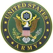 U.S. Army Round Car Magnet