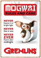 "Gremlins Rules 8.5""x11"" Tin Sign"