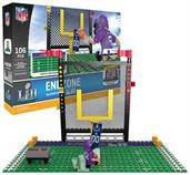 NFL Minnesota Super Bowl 52 Endzone Oyo Minifigure Playset