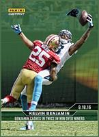 NFL Carolina Panthers Kelvin Benjamin #36 2016 Panini Instant Base Card