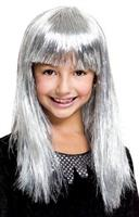 Glitzy Glamour Bob Silver Child Costume Wig