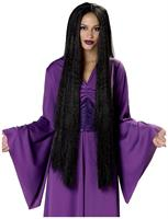 "36"" Extra Long Adult Black Costume Wig"