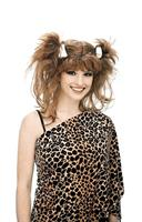 Bee Cee Cave Woman Pigtails Pebbles Adult Brown Costume Wig