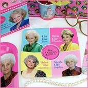 The Golden Girls Birthday Party Supplies Pack | 58 Pieces | Serves 8 Guests