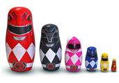 Power Rangers 6-Piece Wood Nesting Doll Set