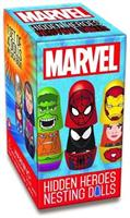 Marvel Blind Boxed Hidden Heroes Nesting Dolls, 1 Set of 4 Dolls