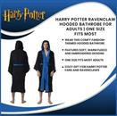 Harry Potter Ravenclaw Hooded Bathrobe for Adults | One Size Fits Most