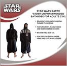 Star Wars Darth Vader Uniform Hooded Bathrobe For Adults | Big And Tall XXL