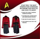 Star Trek: The Next Generation Command Bathrobe for Adults | One Size Fits Most