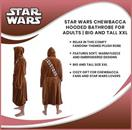 Star Wars Chewbacca Hooded Bathrobe For Adults | Big And Tall XXL