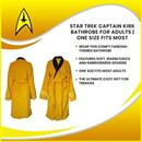 Star Trek Captain Kirk Bathrobe for Adults | One Size Fits Most