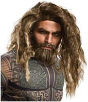 Justice League Aquaman Adult Costume Beard and Wig Set
