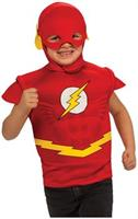 The Flash Muscle Chest Child Costume Shirt w/ Headpiece