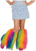 Fluffies Costume Leg Warmers Child: Rainbow