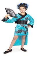 Teal Dragon Girl Child Costume