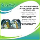 Rick and Morty Space Cruiser Flipping the Bird Auto Sunshade