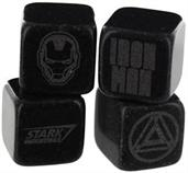 Marvel Iron Man Cold Stones, Set of 4 Granite Beverage Cubes
