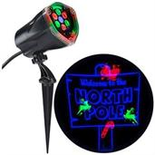 Holiday Lightshow Projection: Whirl-a-Motion+ North Pole (RGB/Blue)