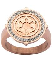 Star Wars Galactic Empire Women's Rose Gold Stainless Steel Ring