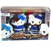 Hello Kitty Street Fighter 2 Figure Pack ChunLi and Zangief