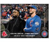 MLB Chicago Cubs David Ortiz/ Kris Bryant OS-1 2016 Topps NOW Trading Card