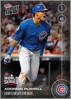 MLB Chicago Cubs Addison Russell #651 2016 Topps NOW Trading Card