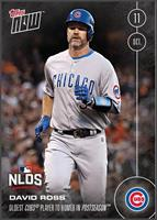 MLB Chicago Cubs David Ross #573 Topps NOW Trading Card