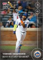 MLB NY Mets Yoenis Cespedes #405 Topps NOW Trading Card
