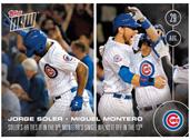 MLB Chicago Cubs Sole, Montero #407 Topps NOW Trading Card