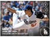 MLB LA Dodgers Jose De Leon (Call-Up) #426 Topps NOW Trading Card