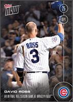 MLB Chicago Cubs David Ross #504 Topps NOW Trading Card