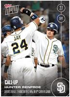 MLB San Diego Padres Hunter Renfroe (Call-Up) #512 Topps NOW Trading Card