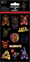 Five Nights at Freddy's Stickers, 4 Sheets