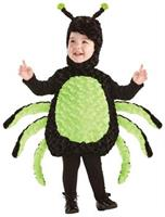 Belly Babies Black and Green Spider Costume Child Toddler