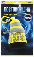 "Doctor Who 4"" Talking Plush Clip On Yellow Dalek"