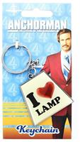 "Anchorman The Legend of Ron Burgundy ""I Heart Lamp"" Keychain"