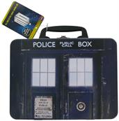 Doctor Who Top Trumps Game with TARDIS Lunch Box Collection Tin