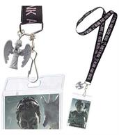 "Doctor Who Lanyard ""Don't Blink"" with 3D Weeping Angel Charm"