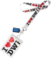 "Doctor Who Lanyard: ""I Heart the Doctor"" with 2D TARDIS Charm"