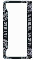 "Doctor Who Licence Plate Frame ""Don't Blink Blink And You Are Dead"""