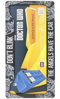 Doctor Who License Plate Frame: Don't Blink