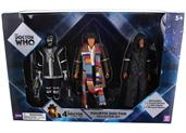 "Doctor Who 5.5"" Action Figure Set: 4th Doctor, D84, Decayed Master"
