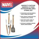 Marvel™s Captain America 3-Piece Outdoor BBQ Grill Utensil Set