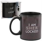 "Sherlock 10 oz Ceramic Heat Reveal Mug: ""I Am Sherlocked"""