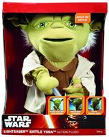 "Star Wars 16"" Action Plush: Lightsaber Battle Yoda"