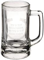 Vikings 12oz. Glass Stein Mug