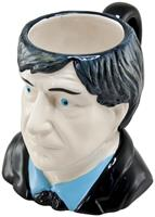 Doctor Who 2nd Doctor Patrick Troughton Ceramic 3D Toby Jug Mug